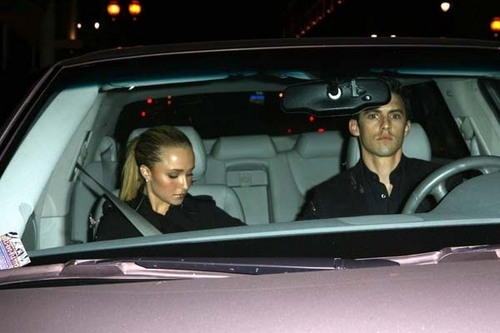 Hayden & Milo Leaving Beso Restaurant in Hollywood