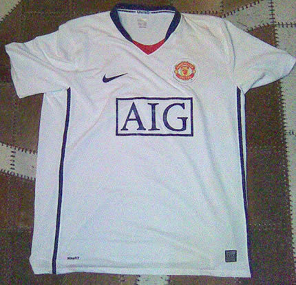 Manchester United 壁紙 titled *Maybe* Nike Man Utd 08/09 Away シャツ