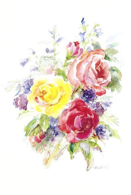 Roses vase painting | Etsy
