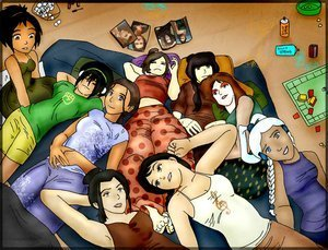 avatar - La Leyenda de Aang fondo de pantalla titled sleep over