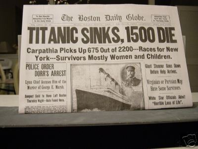 1912 Newspaper - rms-titanic Photo