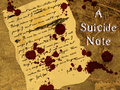 A Suicide Note - photoshop wallpaper