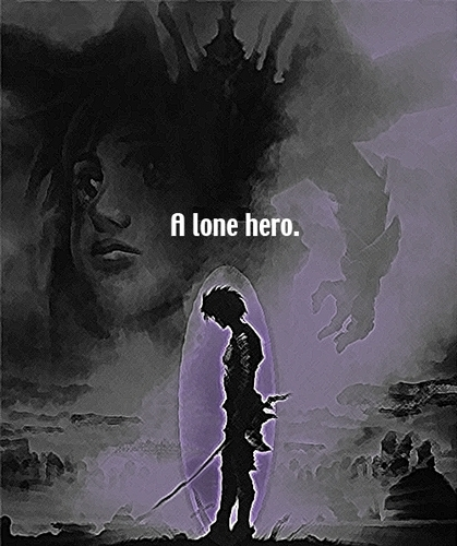 A lone hero