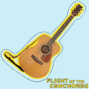 Flight of the Conchords वॉलपेपर entitled Acoustic गिटार