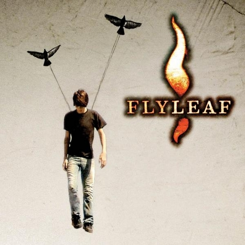 Flyleaf wallpaper probably with a sign titled Album Cover