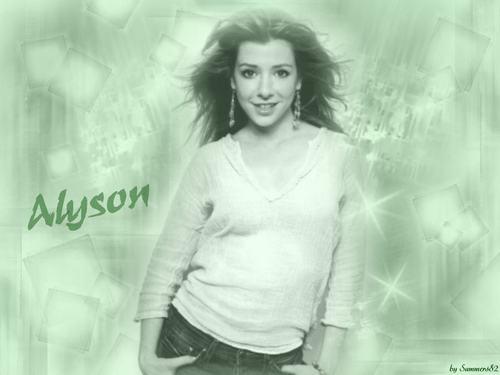 Alyson Hannigan achtergrond entitled Aly