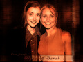 Alyson H. & Sarah Michelle Gellar - btvs-behind-the-scene wallpaper