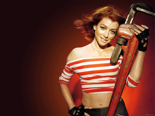 Alyson Hannigan fond d'écran entitled Alyson