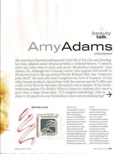 Amy- In Style Magazine Nov 07
