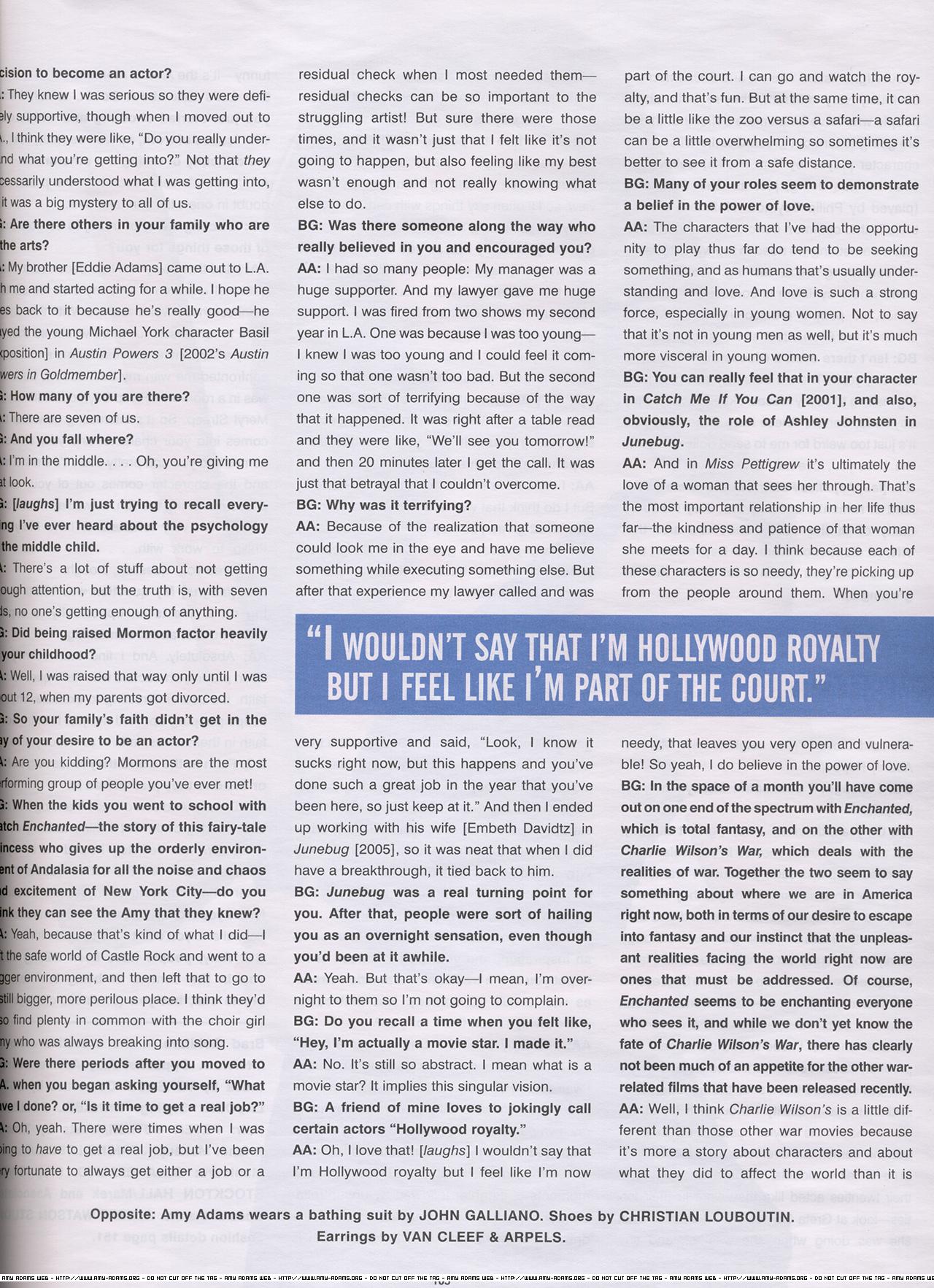 Amy- Interview Magazine Feb 08
