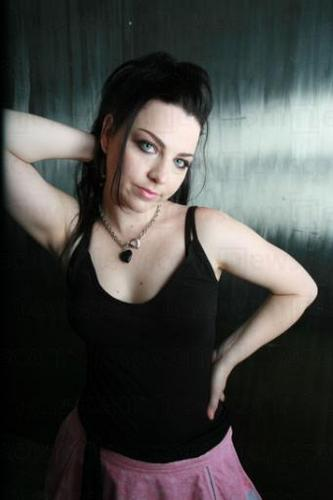 Evanescence achtergrond probably with a cocktail dress, a bustier, and attractiveness titled Amy Lee
