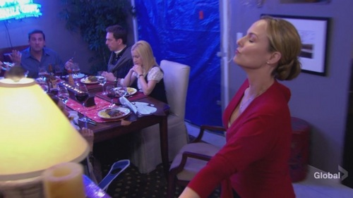 Angela in Dinner Party