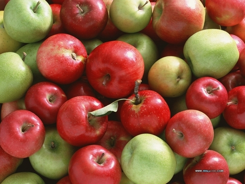 Fruit wallpaper entitled Apples