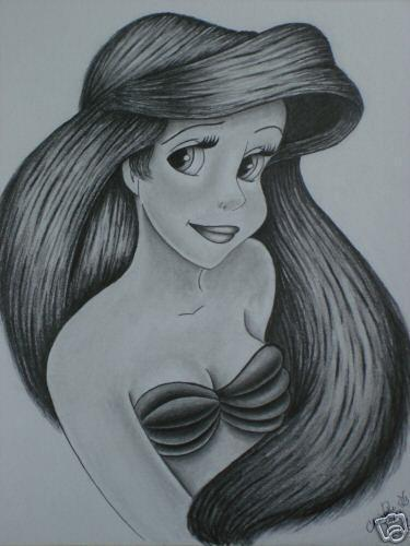 The Little Mermaid kertas dinding possibly containing Anime entitled Ariel Drawing