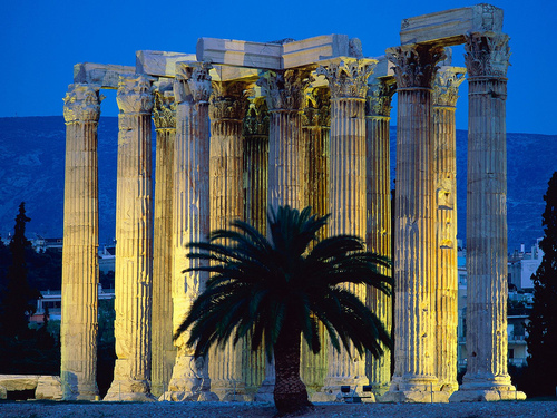 Greece wallpaper possibly containing an acropolis, an agave tequilana, and a resort called Athens
