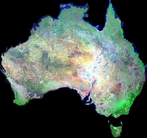 Australia sa pamamagitan ng satellite