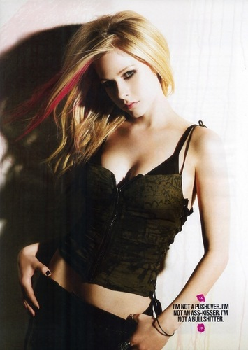 Avril Lavigne wallpaper with a bustier and attractiveness entitled Avril Lavigne Maxim March