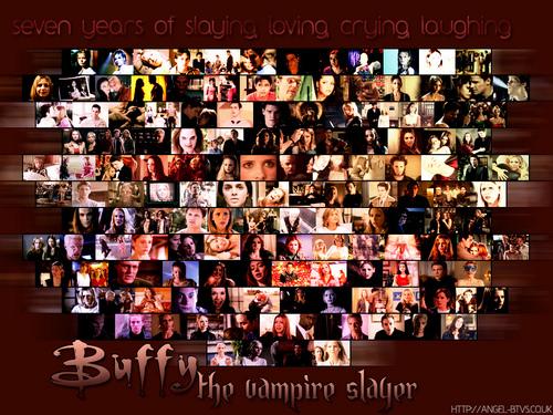 Buffy ang bampira mamamatay-tao wolpeyper titled BTVS