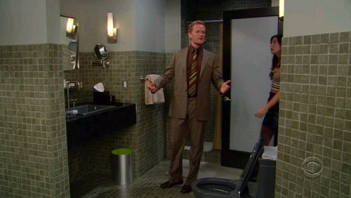 Barney Stinson wallpaper possibly with a bathroom, a shower stall, and a shower called Barney's House