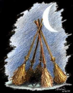 Witchcraft wallpaper entitled Besom