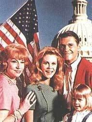 Bewitched wallpaper titled Endora, Sam, Darrin, Tabitha