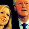 U.S. Democratic Party photo titled Bill & Chelsea Clinton