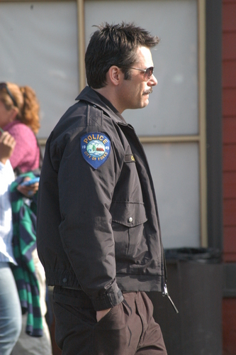 Billy Burke on set
