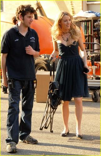 Blake on set