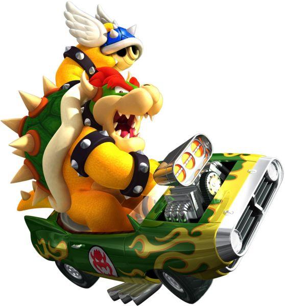 Bowser in Mario Kart Wii