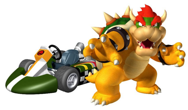 Bowser in Mario Kart Wii