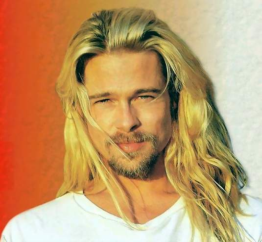 Brad with long hair - Troy Photo (1107353) - Fanpop Achilles Brad Pitt Hair