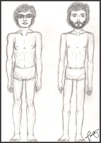 Flight of the Conchords वॉलपेपर called Bret & Jemaine Body study