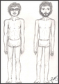 Bret & Jemaine Body study - flight-of-the-conchords fan art