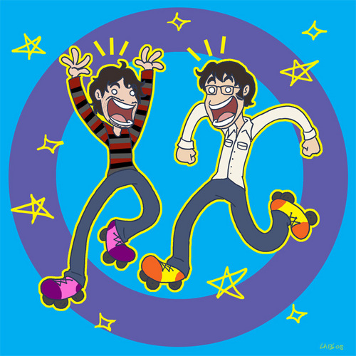Bret & Jemaine Roller Disco - flight-of-the-conchords Fan Art