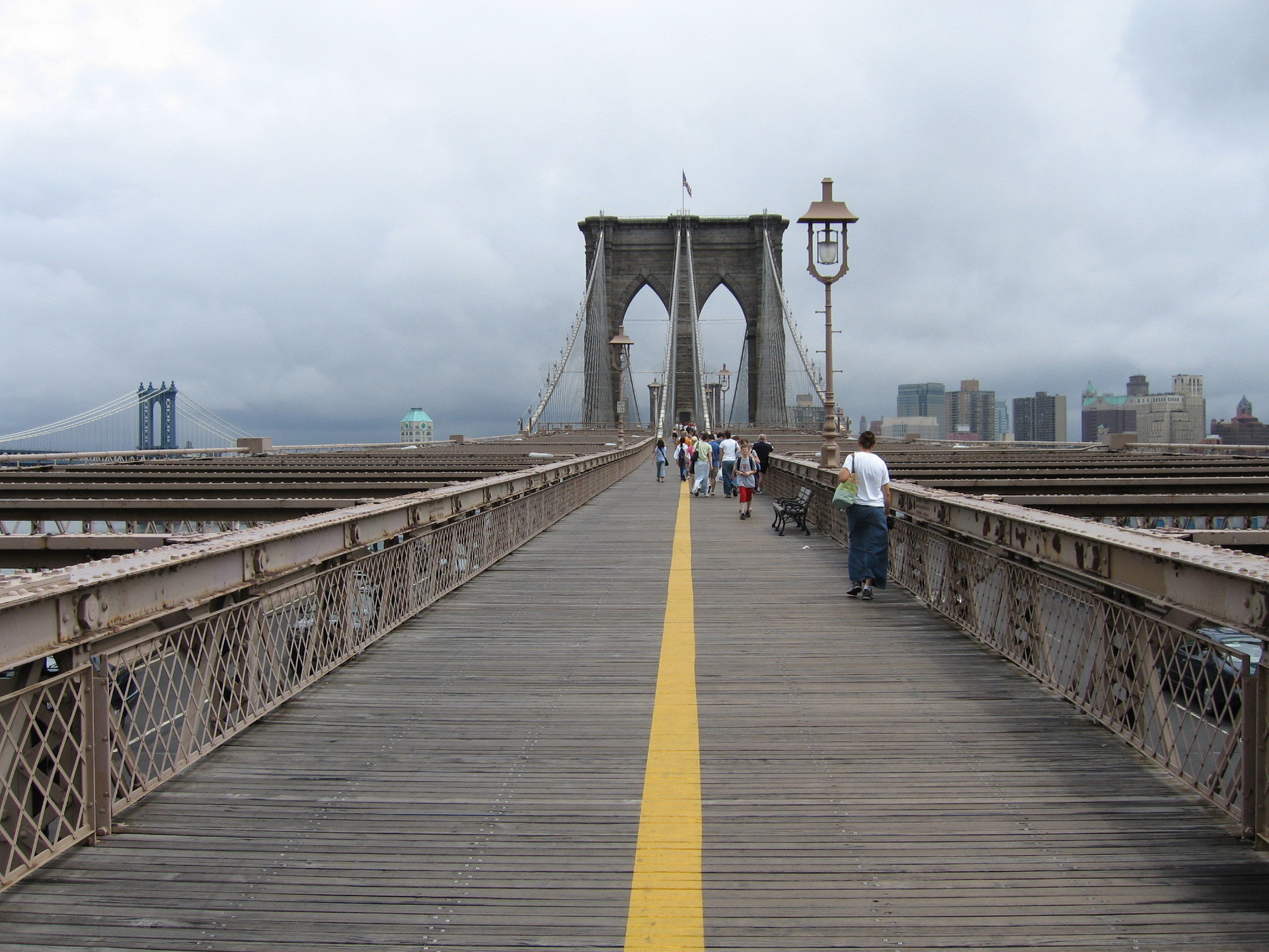How to walk across the brooklyn bridge