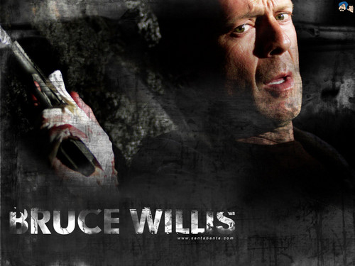 Bruce Willis Обои probably containing a sign titled Bruce Willis