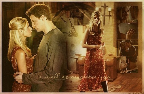 TV Couples wallpaper containing an abattoir called Buffy & Angel (Buffy)