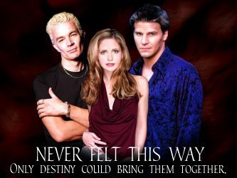 buffy, a caça-vampiros wallpaper containing a portrait entitled Buffy angel & Spike