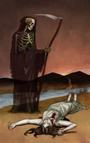 Death -Buffy Tarot Card Art - buffy-the-vampire-slayer Photo