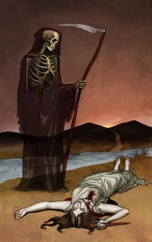 Death -Buffy Tarot Card Art