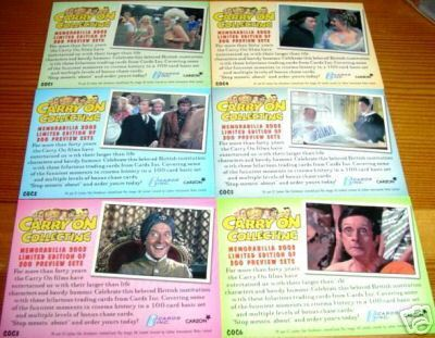 Carry On filmes Trading Cards