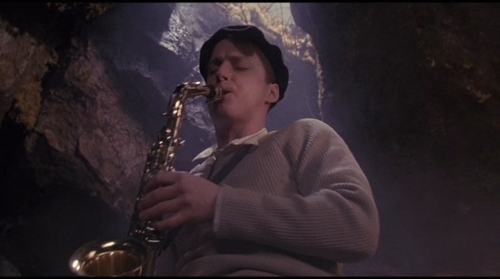 Dead Poets Society wallpaper entitled Charlie plays the sax!