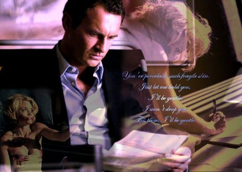 Nip/Tuck wallpaper with a business suit titled Christian & Kimber