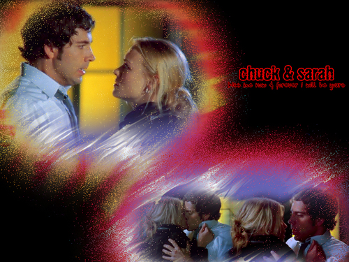 Chuck & Sarah - famous-kisses Wallpaper