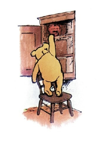 Winnie-the-Pooh karatasi la kupamba ukuta probably with a dressing table, a lectern, and anime entitled Classic Winnie-the-Pooh