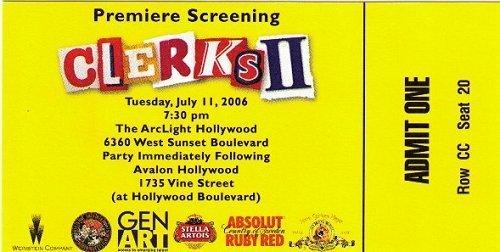 Clerks 2 Premier Ticket