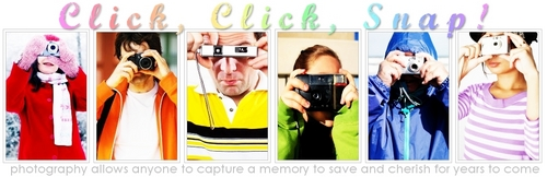 Photography wallpaper entitled Click click  Banner
