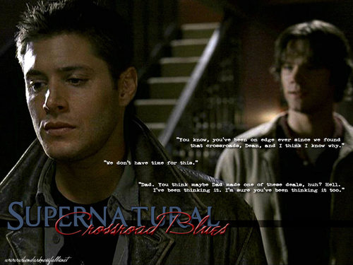 Supernatural wallpaper probably containing a portrait titled Cross Road Blues