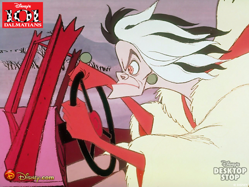 101 Dalmatians wallpaper with anime entitled Cruella de Vil Wallpaper