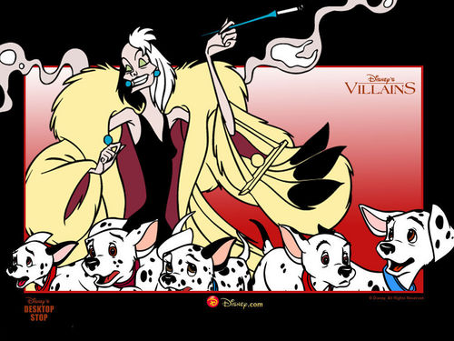 les méchants de Disney fond d'écran possibly containing animé titled Cruella de Vil fond d'écran
